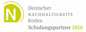 Logo-Deutscher Nachhaltigkeit Kodex - Schulungspartner